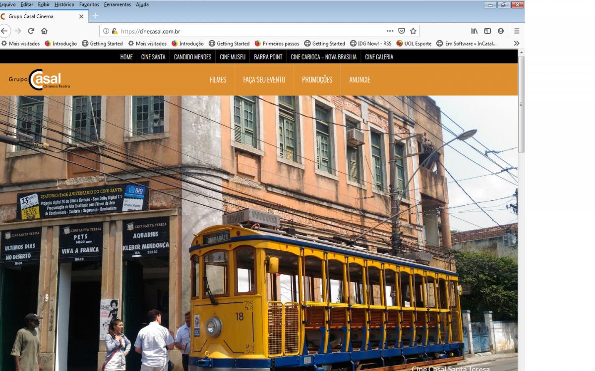 Website cinecasal.com.br