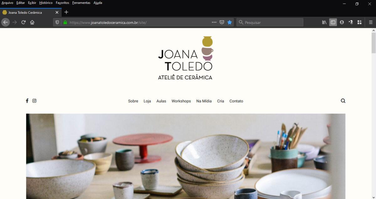 e-commerce joanatoledoceramica.com.br